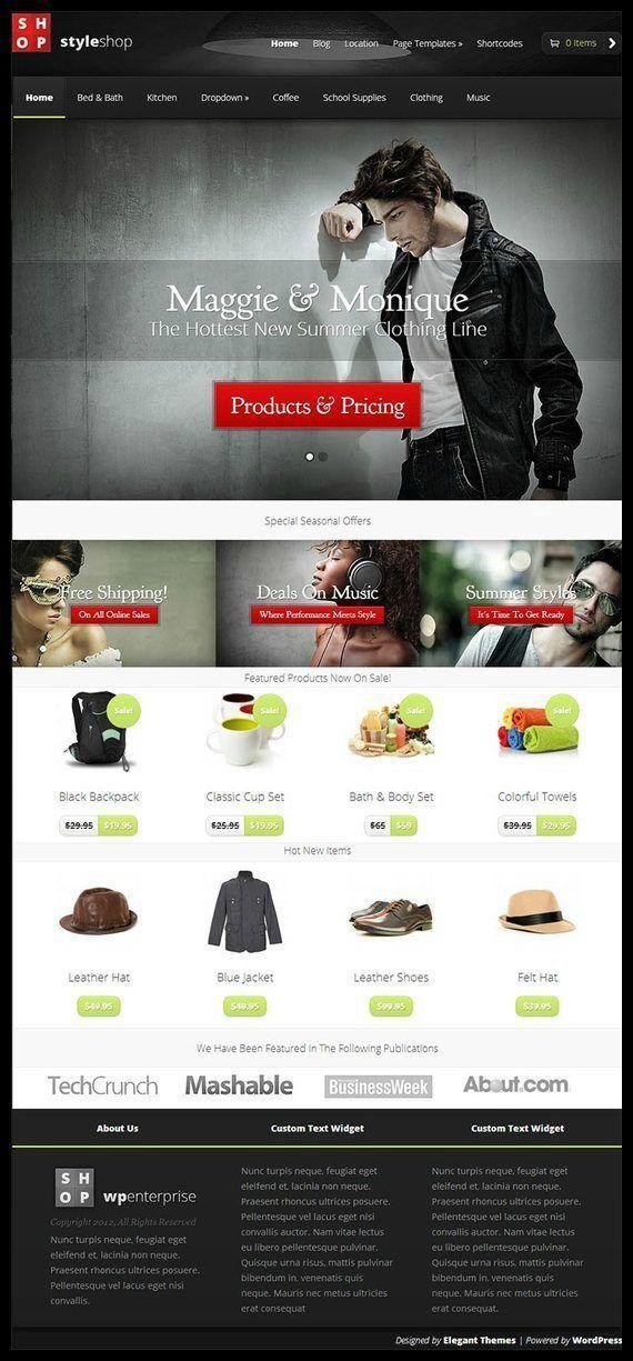 Elegant Themes StyleShop WooCommerce