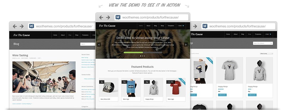 WooThemes For The Cause WooCommerce