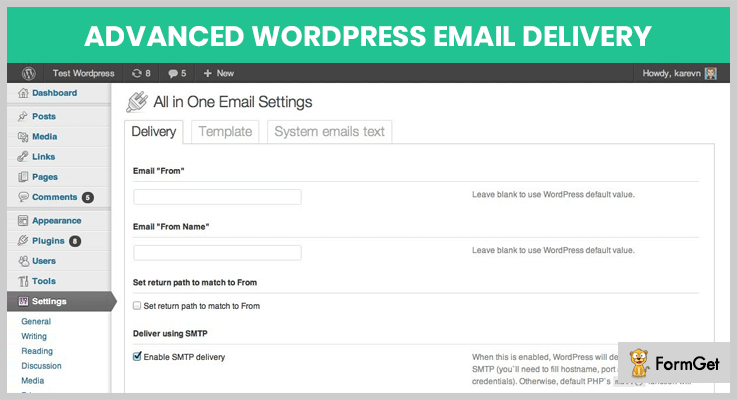 wordpress-email-delivery