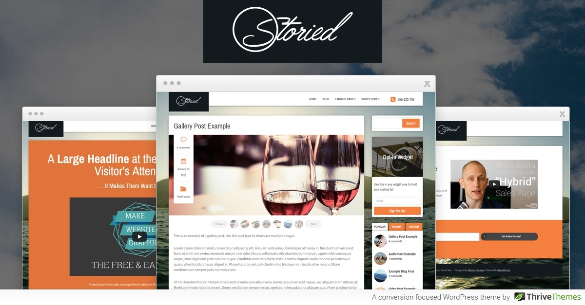 Thrive Themes Storied WordPress